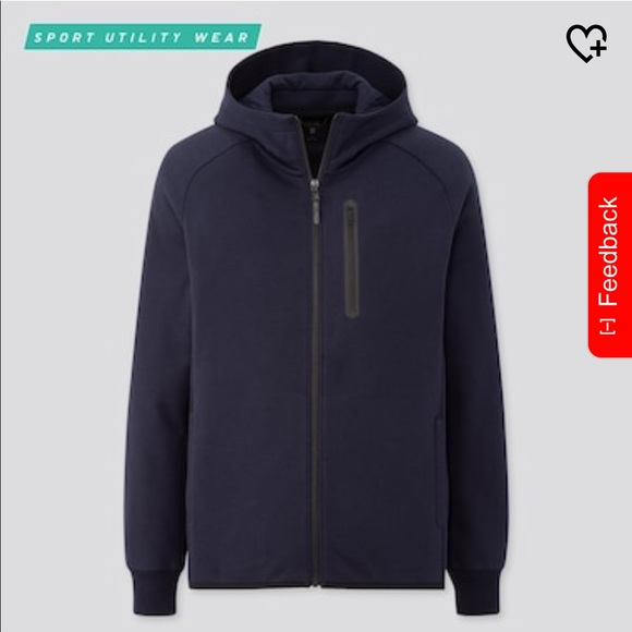 UNIQLO - Dry Stretch Sweat Full-Zip Hoodie (D3)